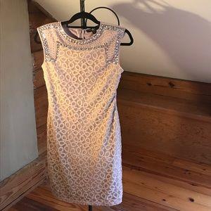 Little Mistress London Peach Beaded Dress, NWOT, S